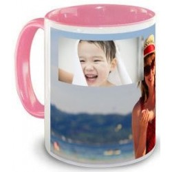 Tasse rose pele mele photos