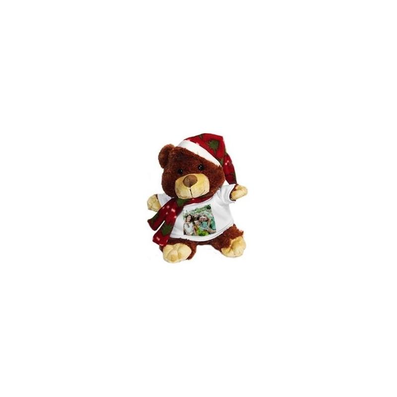 Peluche ours Noël avec photo