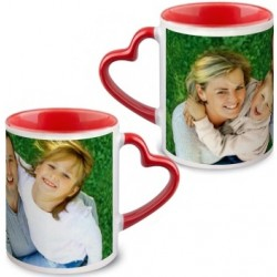 Mug anse coeur rouge photo