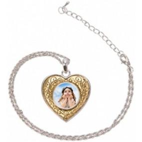 Pendentif coeur et arabesque