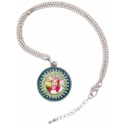 Pendentif rond strass couleur photo