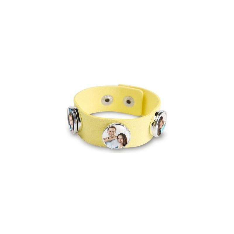 Bracelet 3 photos de couleur jaune