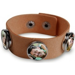Bracelet marron personnalisable 3 photos
