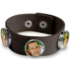 Bracelet tissu noir personnalisable
