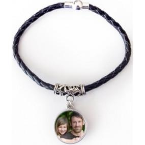 Bracelet cordon personnalisable noir