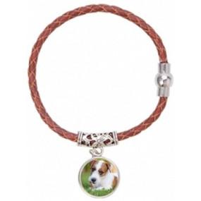 Bracelet tissu rouge personnalisable