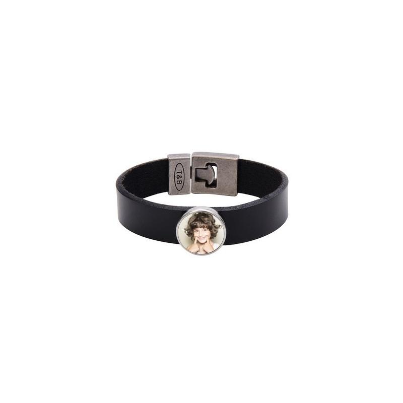Bracelet cuir personnalisable photo