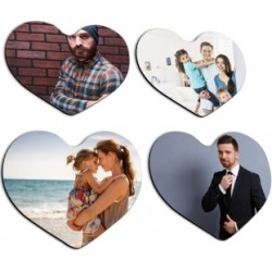 Lot 4 magnets coeur photo