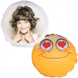 Coussin smiley rond photo