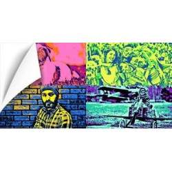 Poster Pop Art panoramique avec vos photos
