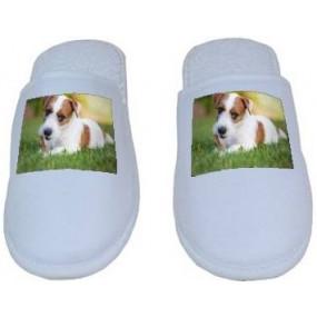 Chaussons blancs avec photo