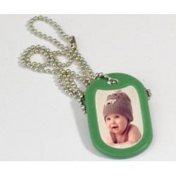 Dog tag photo vert