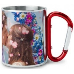 Tasse inox rouge customise