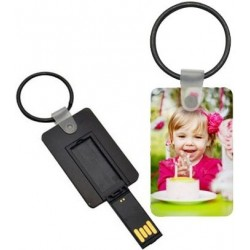 Porte clé carte USB photo