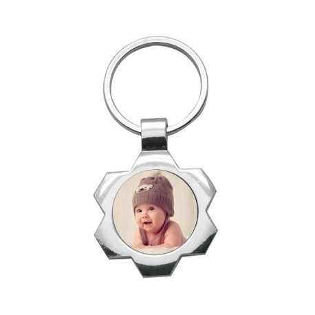 Porte clef rond bords creatives