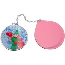 Miroir rond rose photo