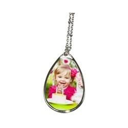 Collier avec photo forme ovale
