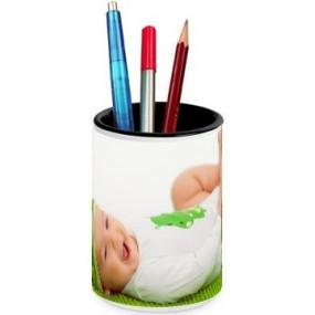 Pot crayons personnalisé avec une photo en grand