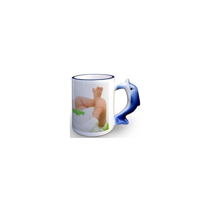 Mug photo à personnaliser avec anse dauphin