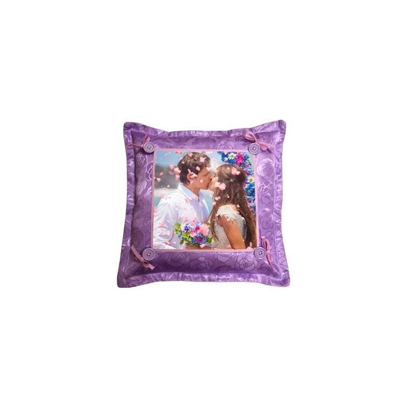 Coussin fantaisie violet photo