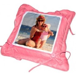 Coussin fantaisie rose photo