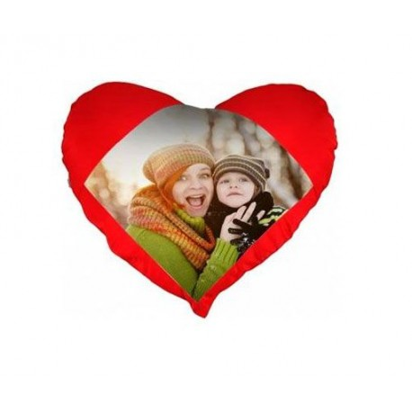 Coussin rouge coeur photo