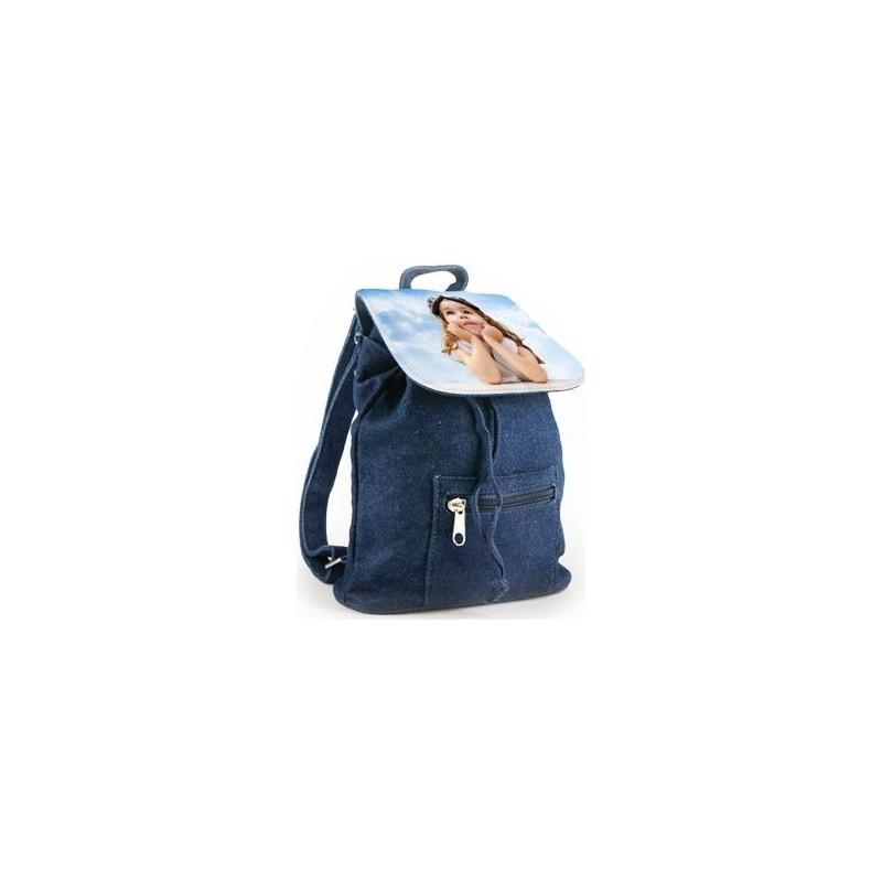 Mini sac à dos personnalisé en tissu jeans