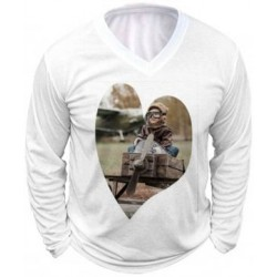 Tee shirt long homme avec photo