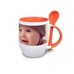 Tasse orange cuillere photo