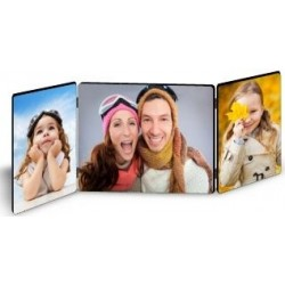 Cadre triple photos en bois