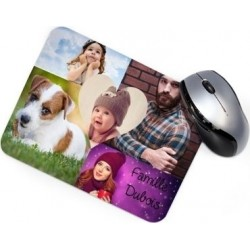 Tapis souris rectangle avec pele mele
