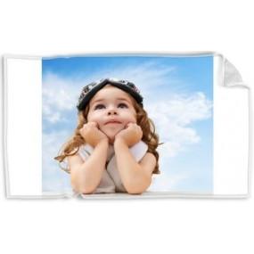 petite serviette avec photo imprimée